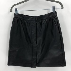 French Connection Womens PU Mini Skirt Size 6
